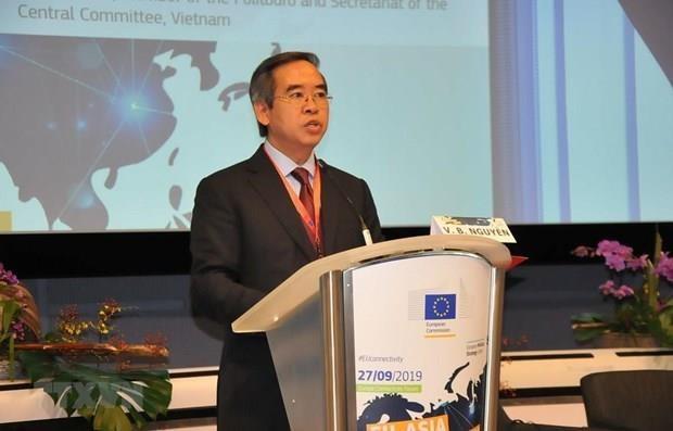 Le Vietnam soutient les efforts de l'UE pour promouvoir la connectivite Europe-Asie hinh anh 1