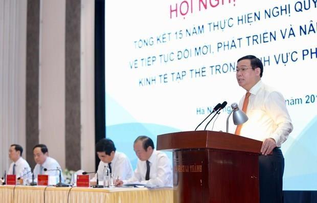 Conference-bilan sur 15 ans d'economie collective du secteur non agricole hinh anh 1