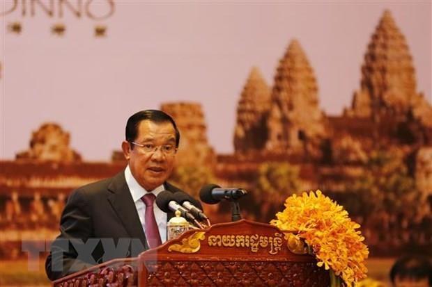 Le Premier ministre cambodgien Samdech Techo Hun Sen entame sa visite officielle au Vietnam hinh anh 1