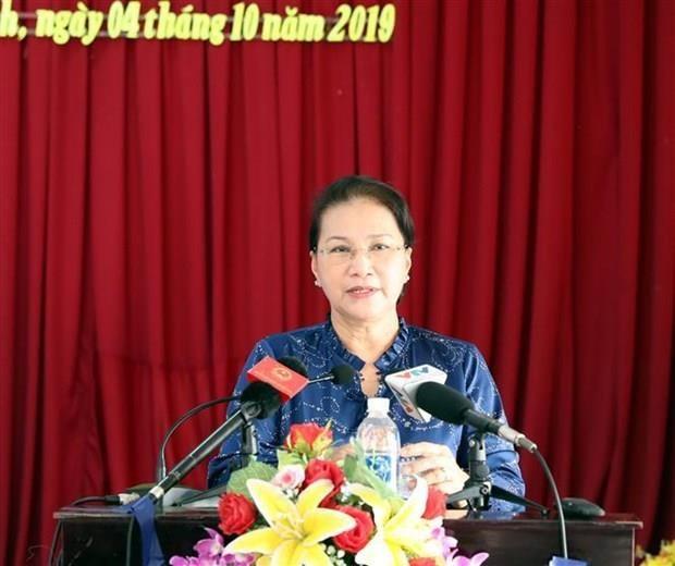 La presidente de l'AN rencontre des electeurs de Can Tho hinh anh 1