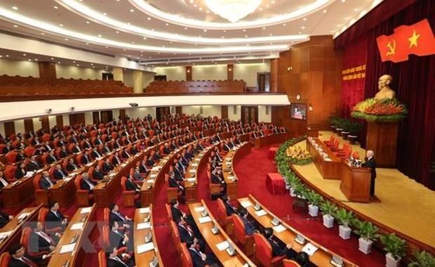 Ouverture du 11e Plenum du Comite central du Parti (XIIe mandat) hinh anh 1