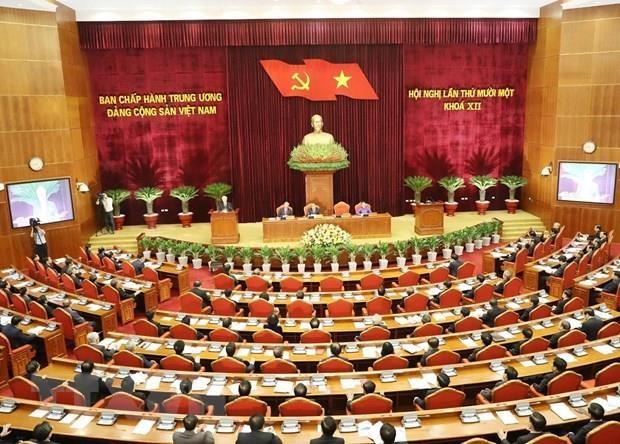 11e Plenum du CC du Parti (XIIe mandat) : continuer a promouvoir le Renouveau hinh anh 1