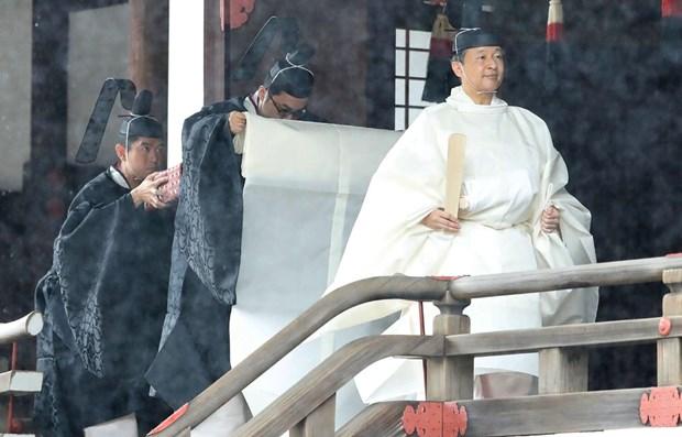 Le Premier ministre Nguyen Xuan Phuc assiste a la ceremonie d'intronisation de l'empereur japonais hinh anh 1