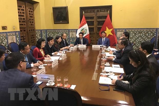 Une delegation du Comite du Parti de Hanoi en visite de travail en Argentine et au Perou hinh anh 1