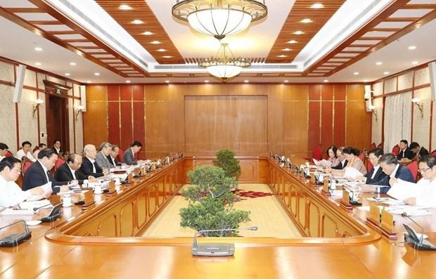 Le Politburo examine certains projets relatifs a la lutte contre la corruption hinh anh 1