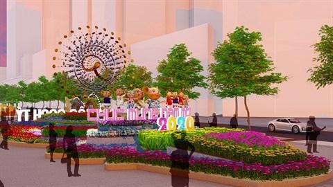HCM-Ville: La souris, theme principal de la rue florale Nguyen Hue 2020 hinh anh 1