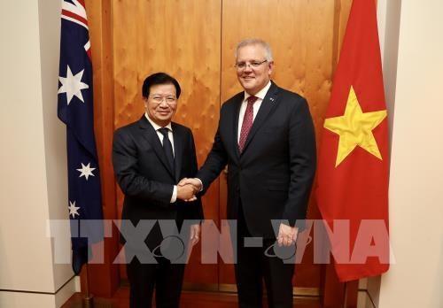 Le vice-PM Trinh Dinh Dung en visite de travail en Australie hinh anh 1