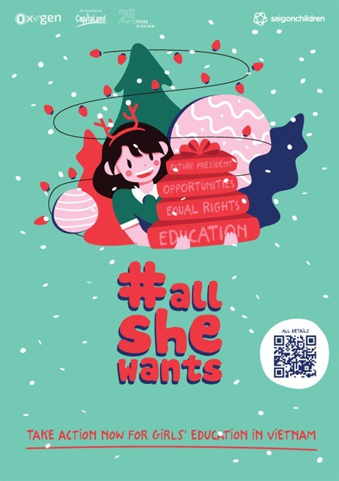 """Lancement de la campagne """"All She Wants"""" pour promouvoir l'education des filles hinh anh 1"""
