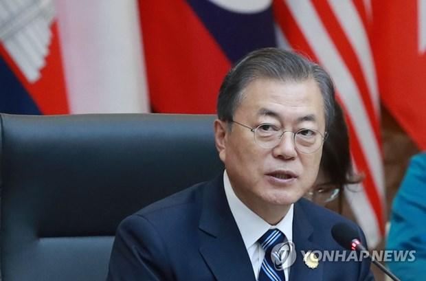 Le president Moon Jae-in promet de soutenir les efforts de l'ASEAN en faveur des start-up hinh anh 1