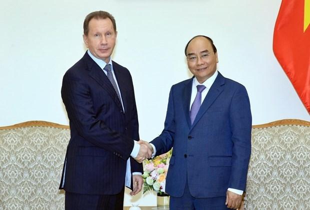 Le PM recoit le directeur de la Garde nationale russe hinh anh 1