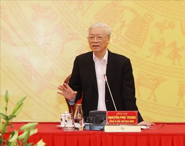 Le dirigeant Nguyen Phu Trong apprecie les resultats remarquables obtenus par la Police en 2019 hinh anh 1