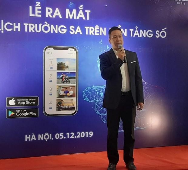 Lancement de l'application de calendrier Truong Sa sur les plateformes numeriques hinh anh 1