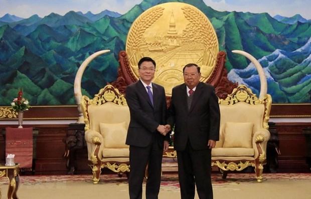 Une delegation du ministere vietnamien de la Justice en visite de travail au Laos hinh anh 1