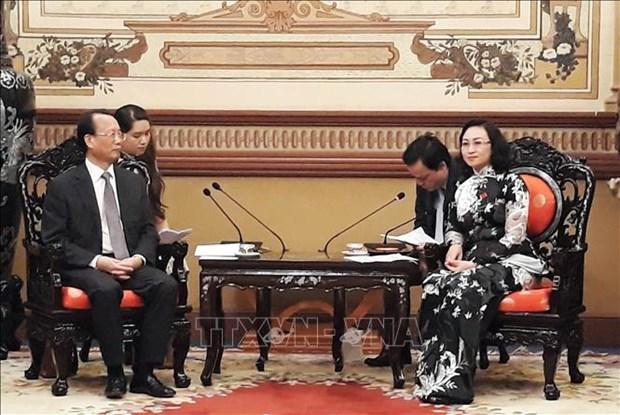 Ho Chi Minh-Ville et la ville chinoise de Chongqing renforcent leur cooperation hinh anh 1