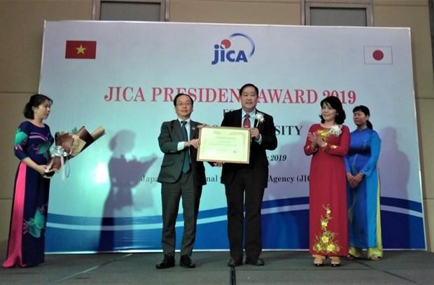 L'Universite de Can Tho recoit le prix d'honneur du president de la JICA hinh anh 1