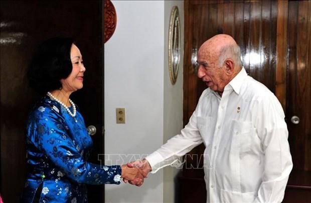 Une delegation du PCV en visite de travail a Cuba hinh anh 1