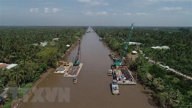 Tien Giang: plus de 7,6 milliards de dongs contre les intrusions salines hinh anh 1