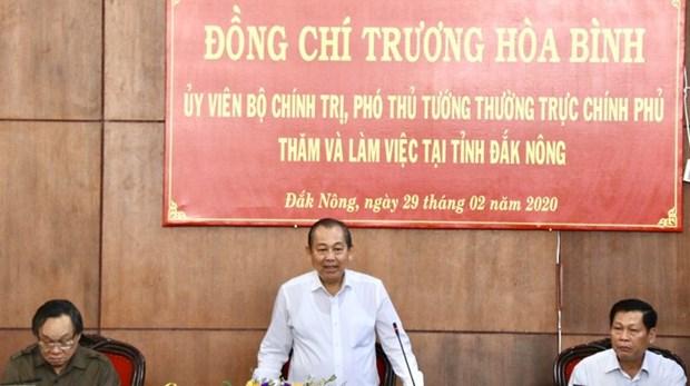 Le vice-Premier ministre permanent Truong Hoa Binh a Dak Nong hinh anh 1