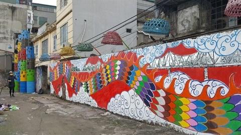 La rue des arts Phuc Tan, un nouvel espace creatif et culturel a Hanoi hinh anh 1