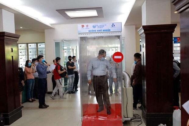 COVID-19: des sas de desinfection a Ho Chi Minh-Ville hinh anh 1