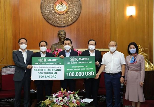 COVID-19: K-Market offre 100.000 USD au Vietnam hinh anh 1