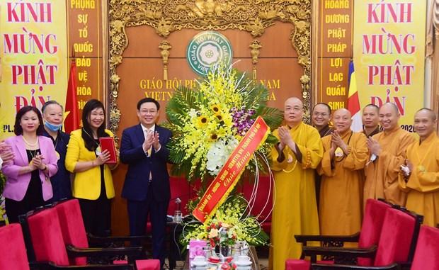 Naissance de Bouddha : le secretaire du Comite du Parti de Hanoi presente ses salutations hinh anh 1