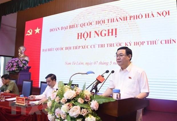 Les electeurs de Hanoi apprecient les resultats du combat contre le COVID-19 hinh anh 1