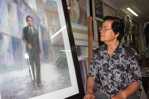 Hai Phong: Un peintre qui consacre toute sa vie a l'Oncle Ho hinh anh 1