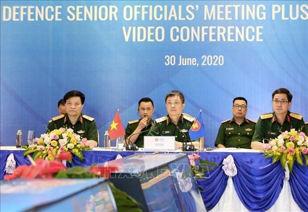 Reunion en ligne du groupe de travail des hauts responsables de la defense de l'ASEAN hinh anh 1
