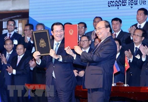 Ceremonie de reception de la carte topographique de la frontiere Vietnam-Cambodge hinh anh 1