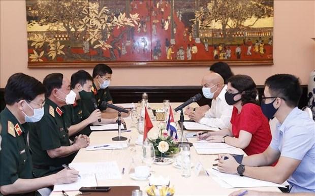 Vietnam et Cuba encouragent leur cooperation en medecine militaire hinh anh 1