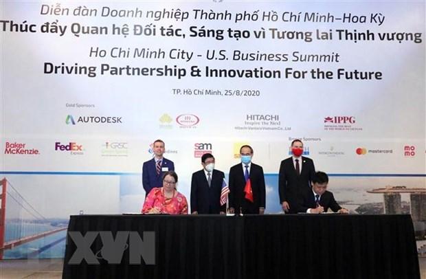 Ho Chi Minh-Ville et les Etats-Unis cooperent pour construire des villes intelligentes hinh anh 1