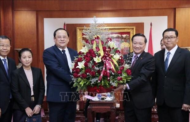 Fete nationale du Vietnam: felicitations des dirigeants des ministeres et des branches du Laos hinh anh 1