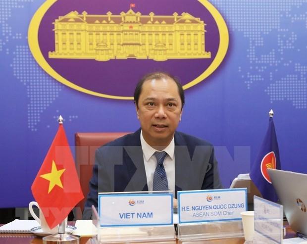 De hauts responsables de l'ASEAN discutent des relations exterieures du bloc hinh anh 1