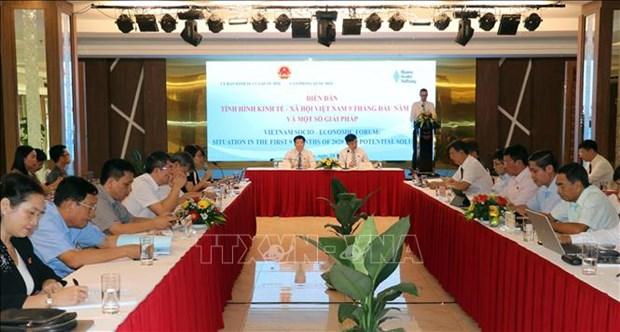 Forum sur la situation socio-economique du Vietnam au cours des 9 premiers mois de 2020 hinh anh 1