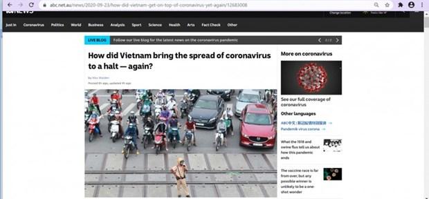 Un journal australien salue les mesures du Vietnam contre le Covid-19 hinh anh 1