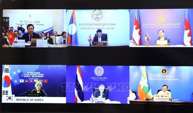 Les pays du bas-Mekong et la R. de Coree renforcent leurs liens au milieu du COVID-19 hinh anh 1