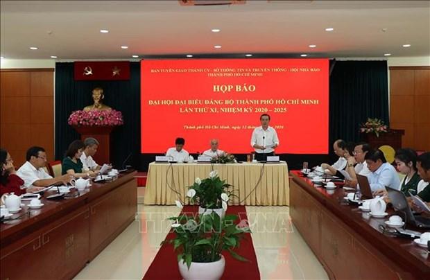 Le 11e Congres de l'organisation du Parti de HCM-Ville se tiendra du 14 au 18 octobre hinh anh 1