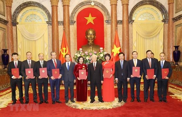 Le dirigeant Nguyen Phu Trong remet ses decisions de nomination a 9 nouveaux ambassadeurs hinh anh 1