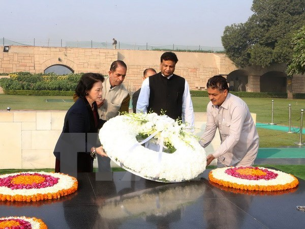 La presidente de l'AN rencontre le secretaire general du Parti communiste d'Inde marxiste hinh anh 1