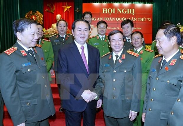 Le chef de l'Etat plaide pour l'edification des forces de police saines et fortes hinh anh 1