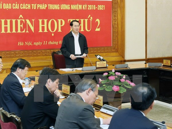 Le president Tran Dai Quang demande d'edifier une justice pure et forte hinh anh 1