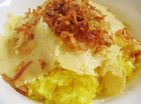Le riz gluant cuit a la vapeur, un plat bien connu pour tous les gouts hinh anh 3