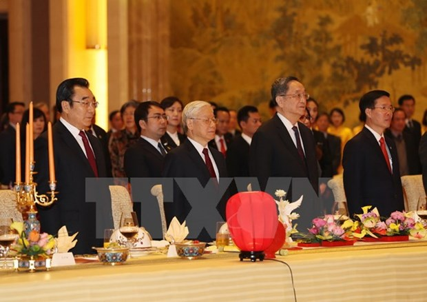 Le secretaire general Nguyen Phu Trong reaffirme l'amitie Vietnam-Chine hinh anh 1