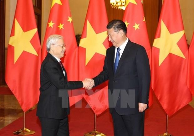 Messages de felicitations pour les 67 ans d'etablissement des relations diplomatiques Vietnam-Chine hinh anh 1
