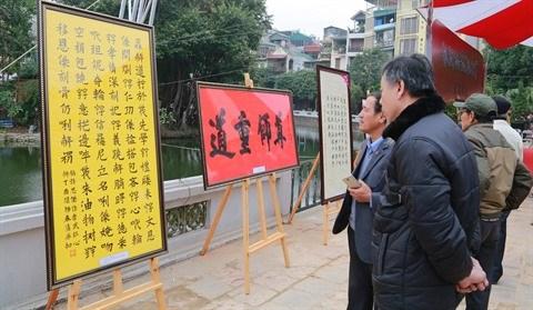Les Vietnamiens saluent l'annee du Coq de leurs calligraphies hinh anh 3