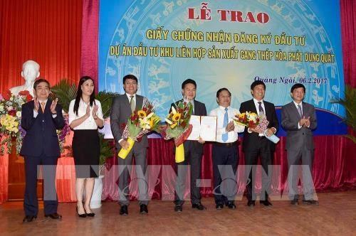 Le groupe Hoa Phat lance son mega-projet de complexe siderurgique a Quang Ngai hinh anh 1
