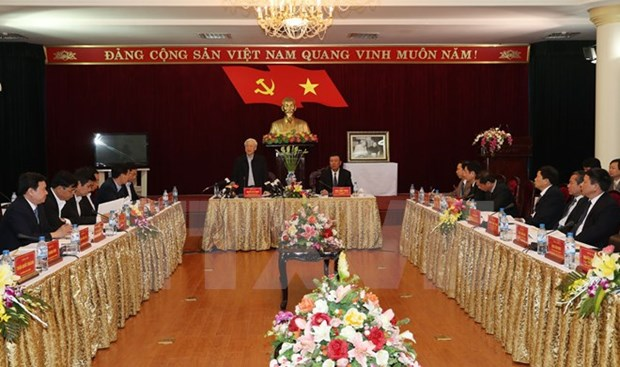 Le leader du Parti exhorte Nam Dinh a valoriser ses atouts hinh anh 2