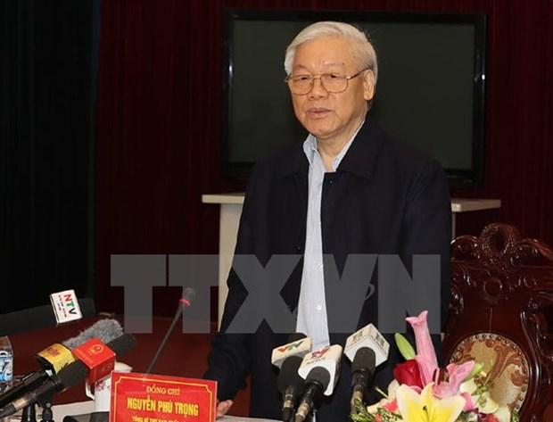 Le leader du Parti exhorte Nam Dinh a valoriser ses atouts hinh anh 1
