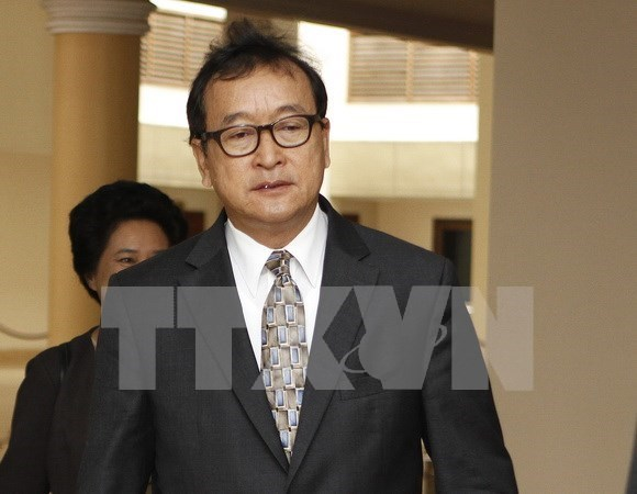 Cambodge: La cour d'appel confirme la condamnation de Sam Rainsy hinh anh 1